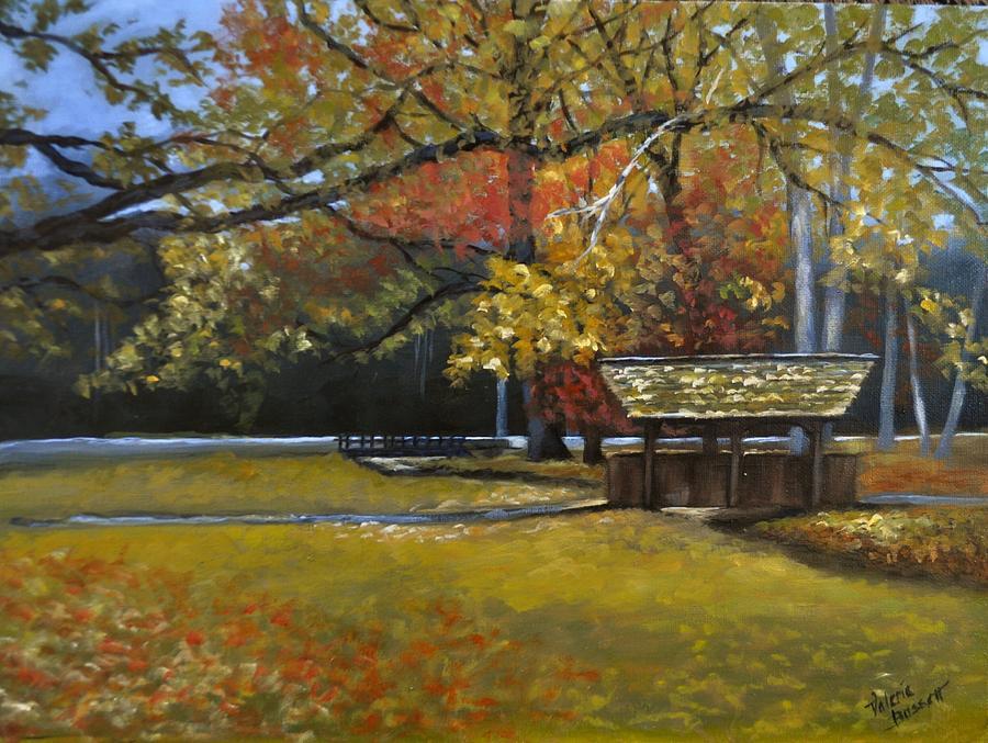 Autumn Bridge by Valerie Bassett