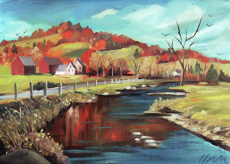 Autumn By The River by Nancy Griswold