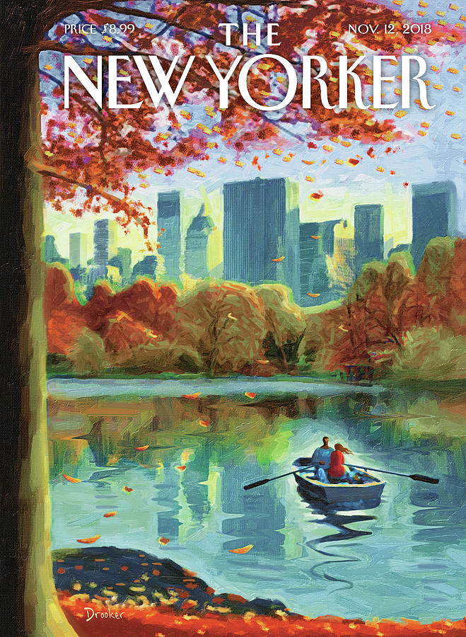 Autumn Central Park Drawing by Eric Drooker