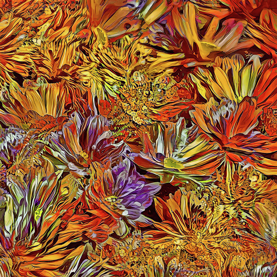 Autumn Chrysanthemums by HH Photography of Florida