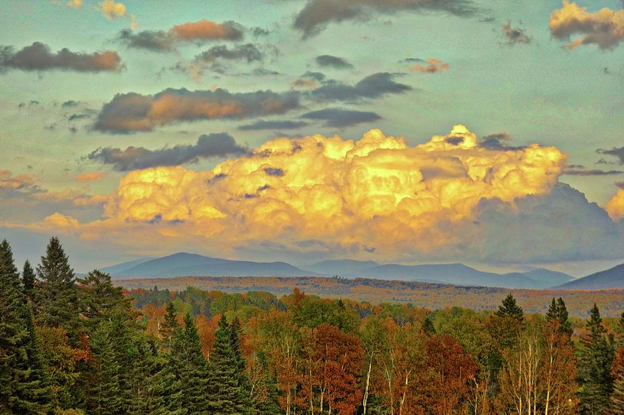 Autumn Clouds Over Maine by Russ Considine