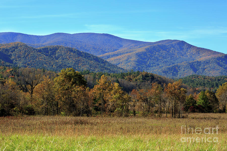 Cades Cove Photograph - Autumn Colours In Great Smoky Mountains National Park by Louise Heusinkveld