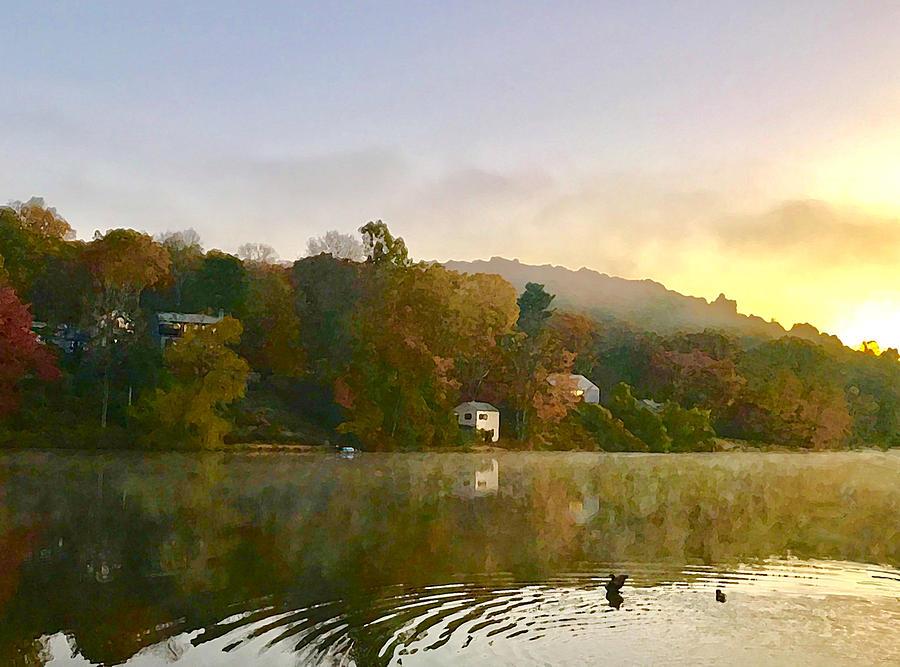 Autumn Dawn on Wataba by Tom Johnson