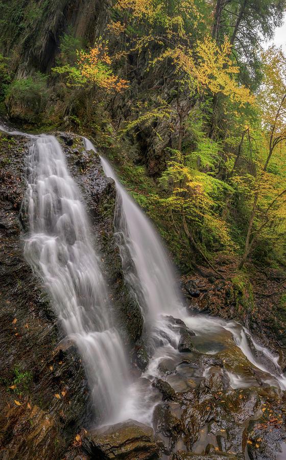 Autumn Day at Moss Glen Falls by Kristen Wilkinson
