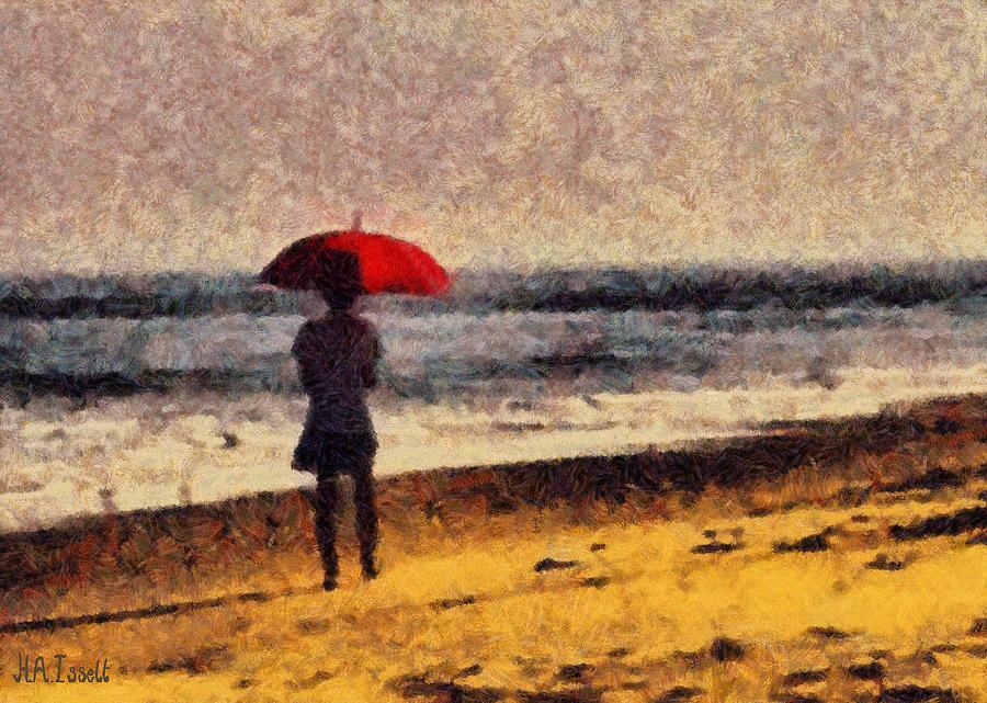 Autumn day on the Beach by Humphrey Isselt