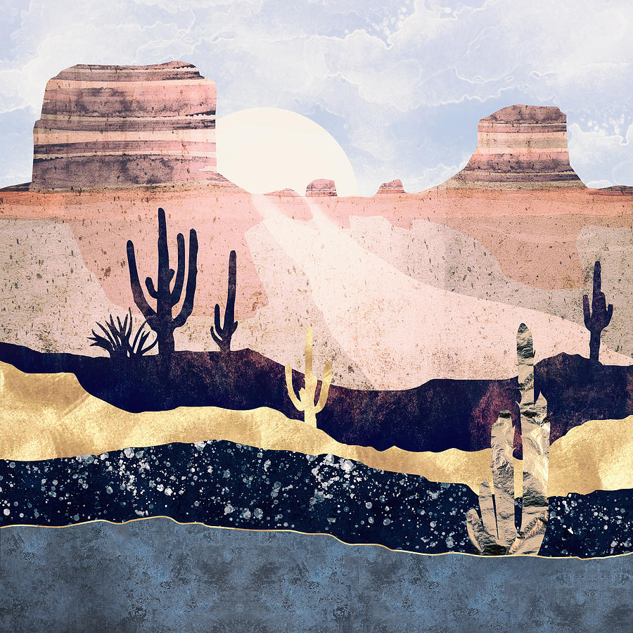 Desert Digital Art - Autumn Desert by Spacefrog Designs