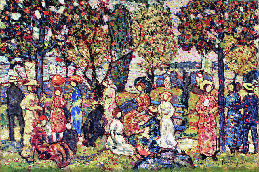 Usa Painting - Autumn - Digital Remastered Edition by Maurice Brazil Prendergast