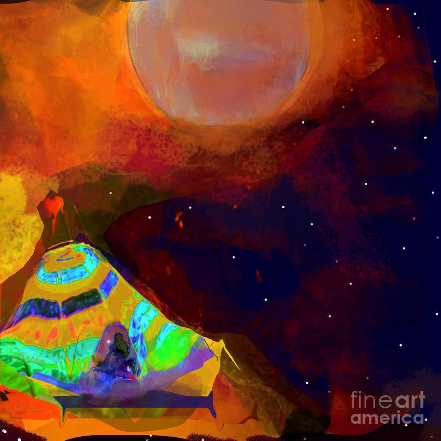 Autumn Dreams- Camped Beneath the Moon by Zsanan Studio