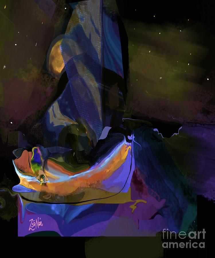 Autumn Dreams Sailing the Moon by Zsanan Studio