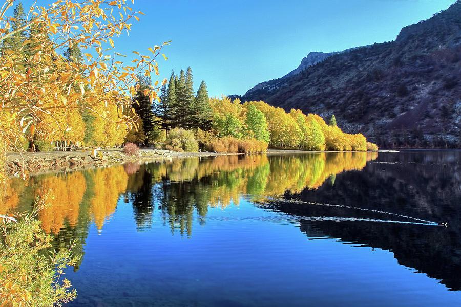 Silver Lake Photograph - Autumn Euphoria at Silver Lake by Donna Kennedy