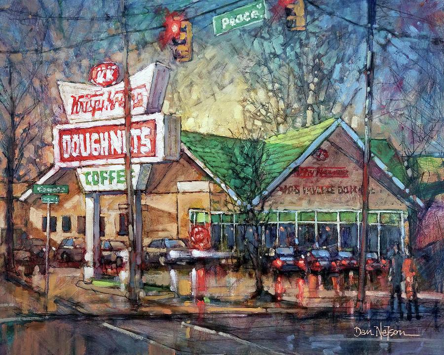 Autumn Evening Krispy Kreme Painting