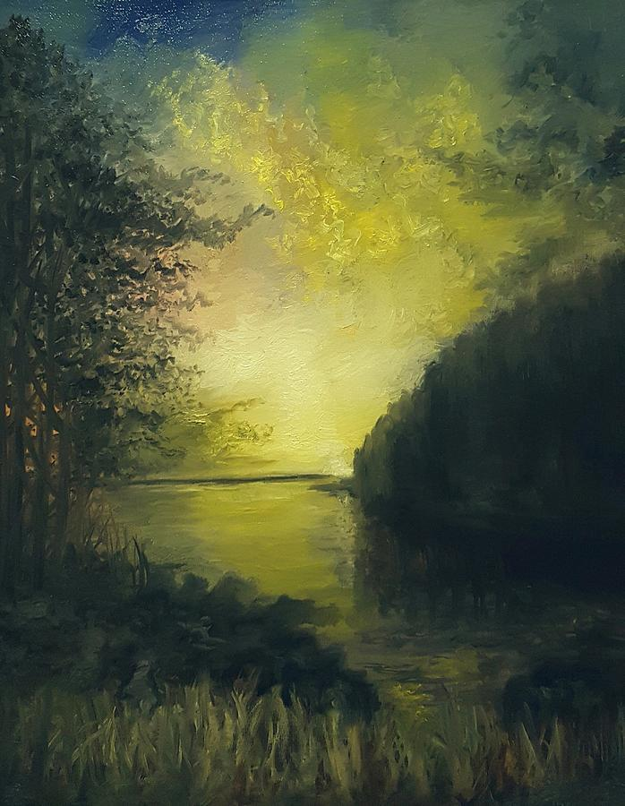 Autumn Evening Painting by Michael Hanrahan
