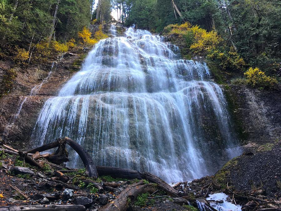 Cascading Waterfalls - Bridal Veil Provincial Park, British Columbia Photograph
