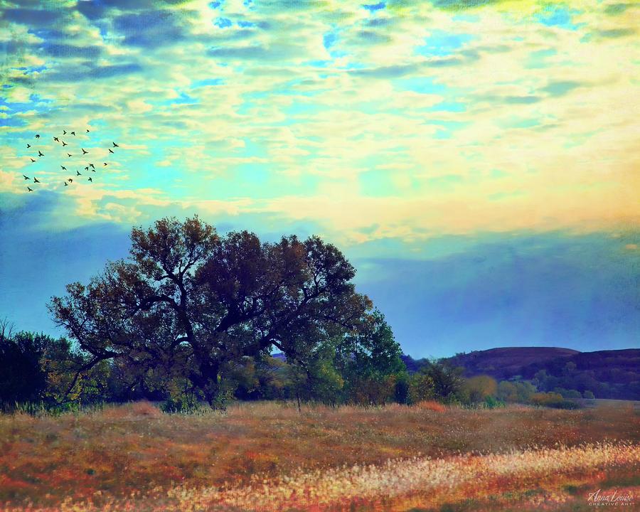 Autumn Flint Hills Morning by Anna Louise