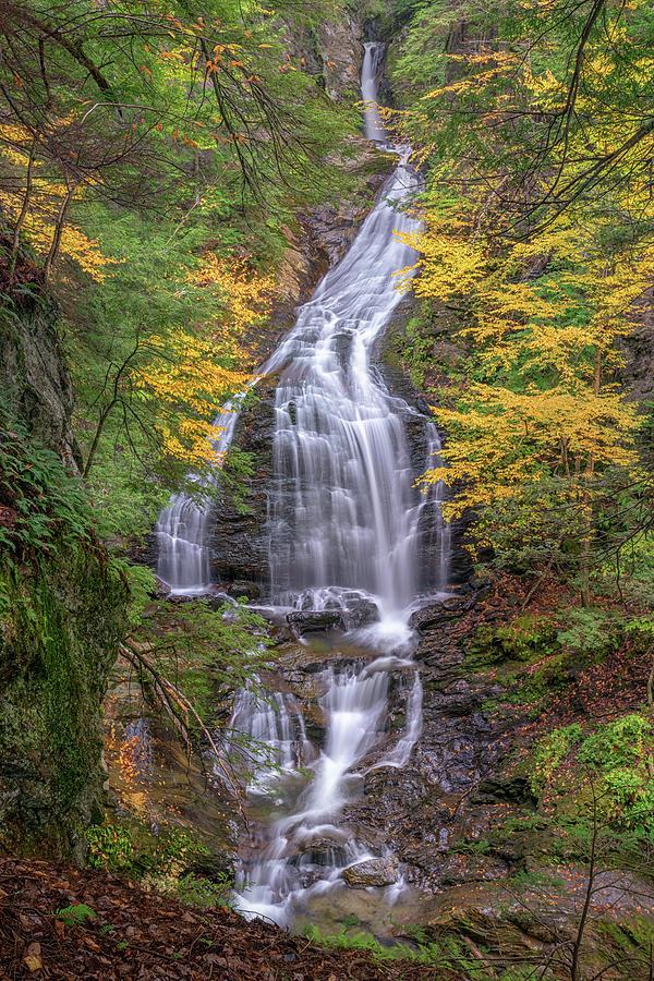 Autumn Foliage at Moss Glen Falls by Kristen Wilkinson