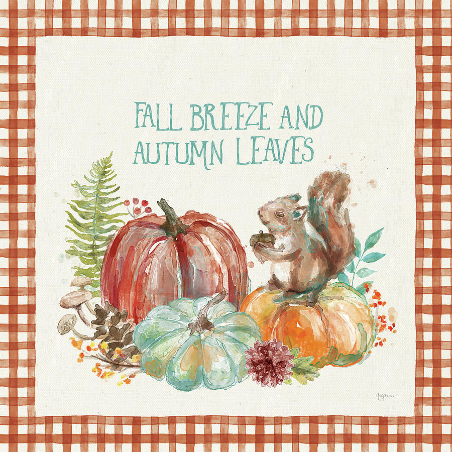 Animals Painting - Autumn Friends Iv Pattern Va by Mary Urban