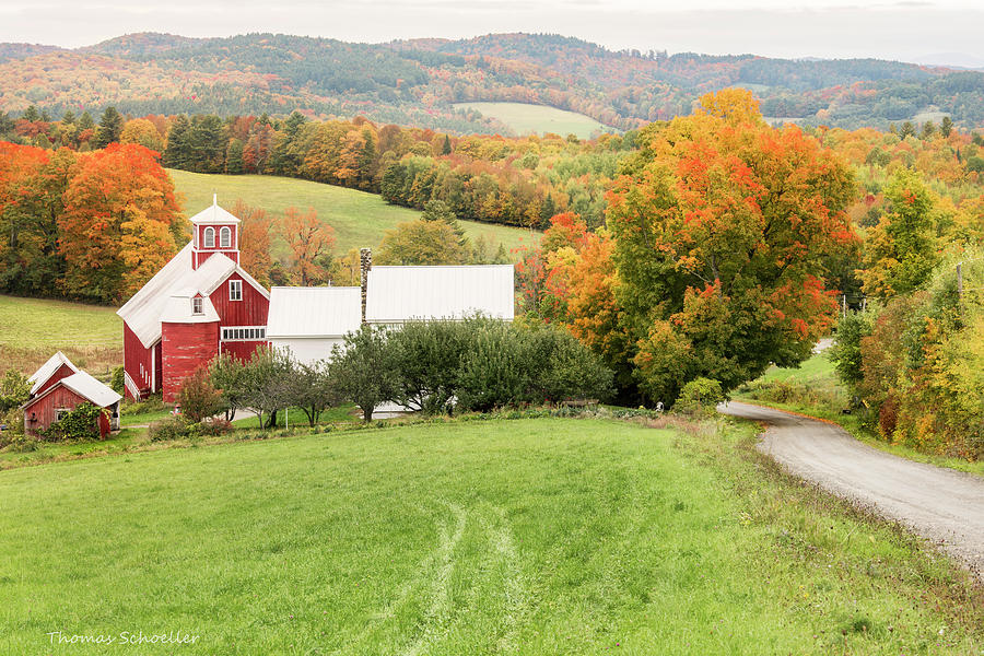 Autumn from the Bogie Mountain Farm - Vermont by T-S Fine Art Landscape Photography