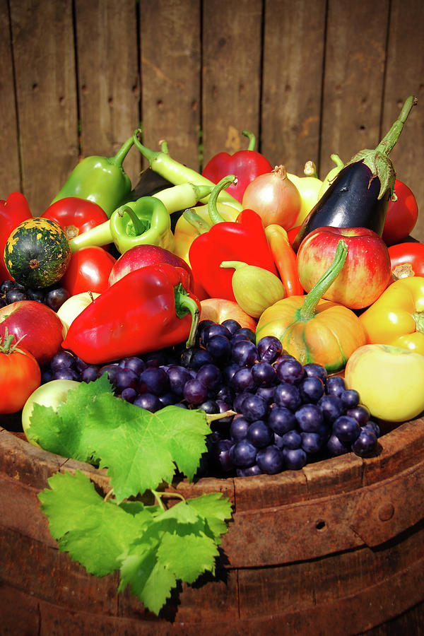 Autumn Fruit And Vegetables Photograph by Jasmina007