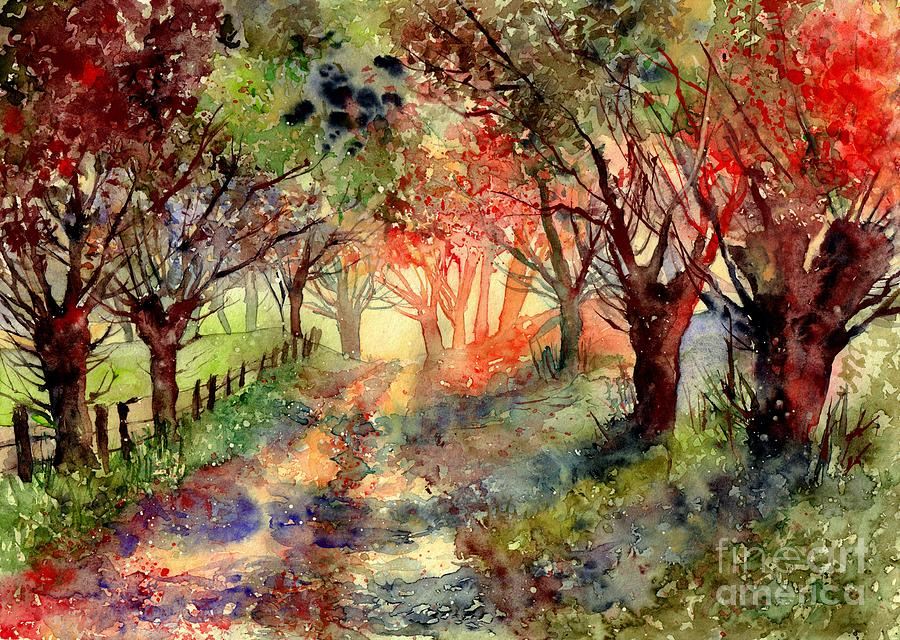 Autumn Painting - Autumn Garden by Suzann Sines