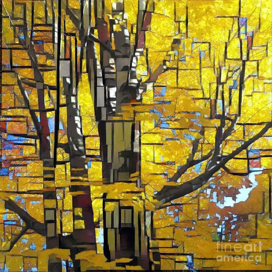 Autumn Glory Squared by Jodie Marie Anne Richardson Traugott          aka jm-ART
