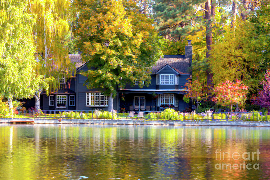 Autumn House Canvas Print, Photographic Print, Art Print, Framed Print, Greeting Card, iPhone Case, by David Millenheft
