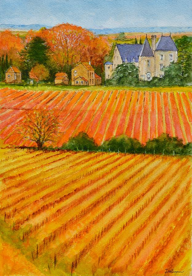 Autumn in French Vineyards by Dai Wynn