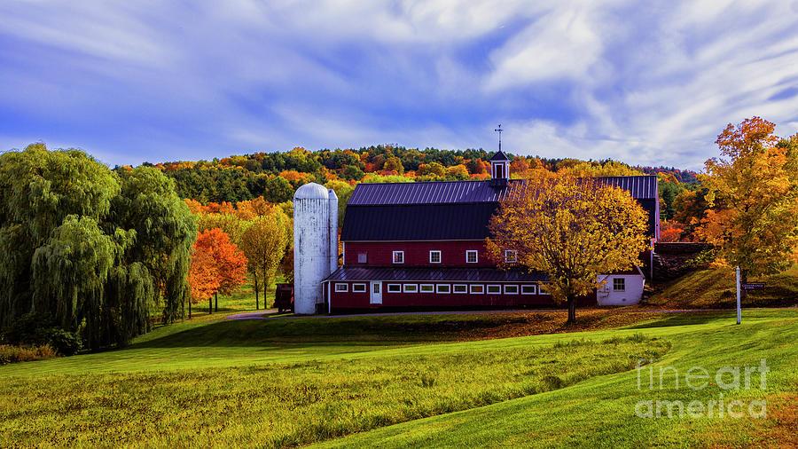 Autumn in Sudbury Vermont by Scenic Vermont Photography