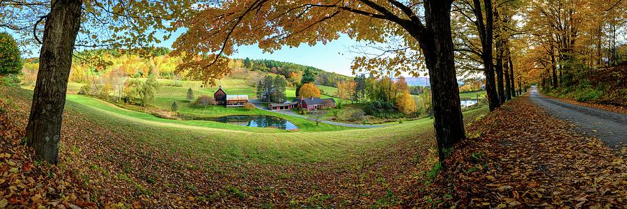Autumn in Vermont Sleepy Hollow Farm Woodstock   by OLena Art - Lena Owens