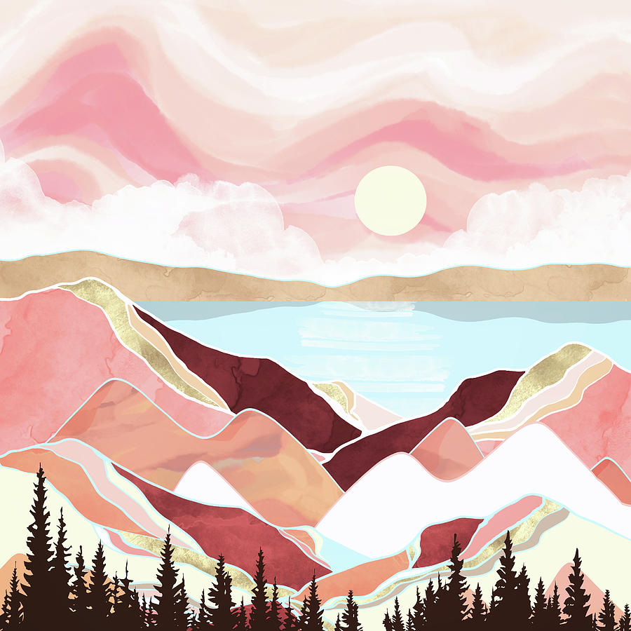 Autumn Lake Sunrise by Spacefrog Designs