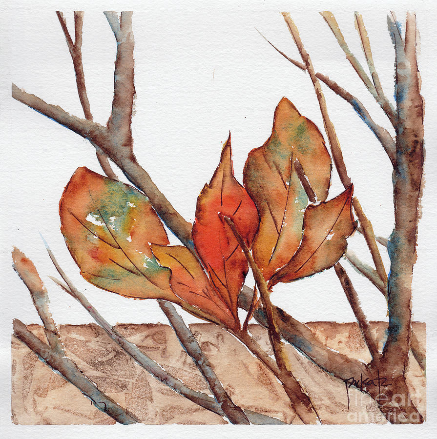 Autumn Leaves Amongst The Twigs by Pat Katz