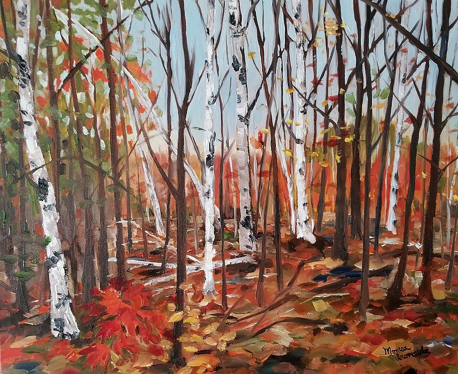 Original Painting - Autumn Leaves by Monica Ironside