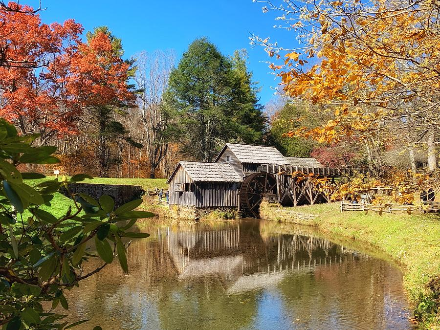 Autumn Mabry Mill by Chris Berrier