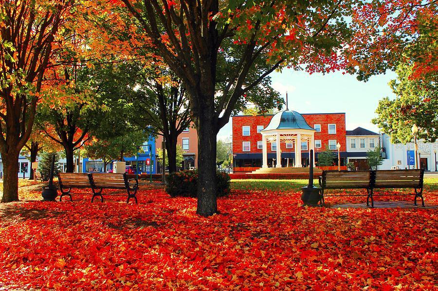 Landscape Photograph - Autumn Main Street by Candice Trimble