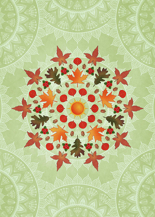 Autumn Mandala by Debi Dalio