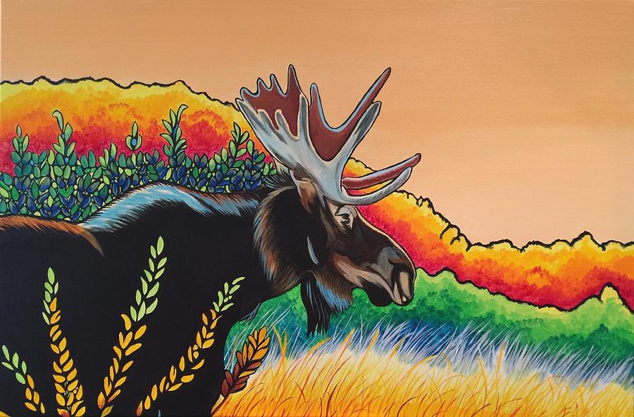 Autumn Moose by Sonja Jones