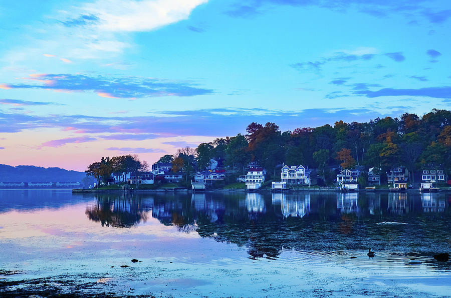 Autumn Morning on Lake Hopatcong by Maureen E Ritter