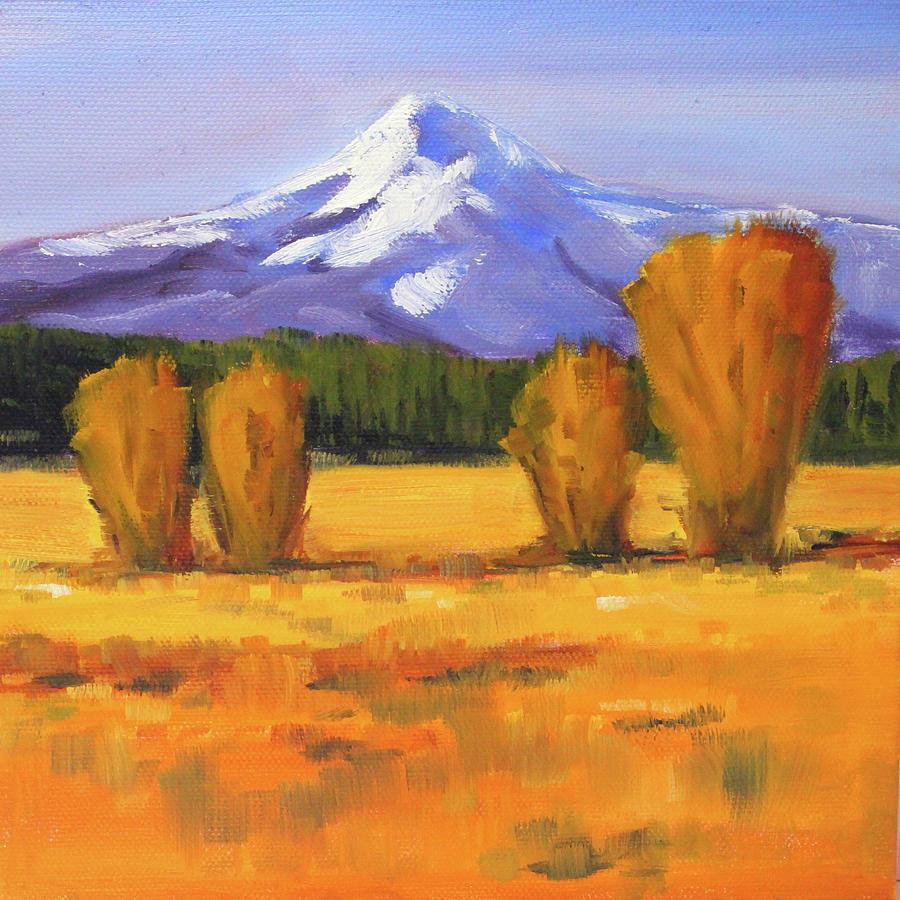 Oregon Mountain Painting - Autumn Mountain by Nancy Merkle
