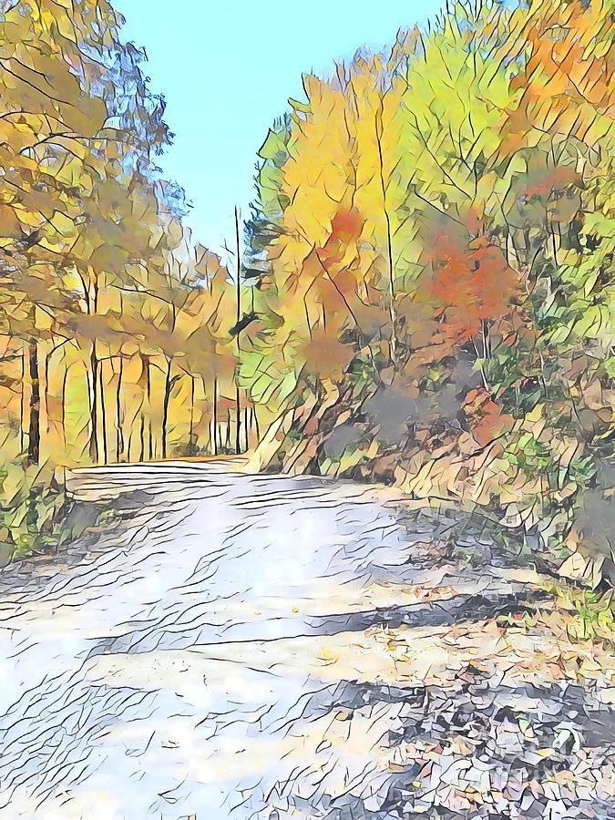 Autumn Mountain Road  by Rachel Hannah
