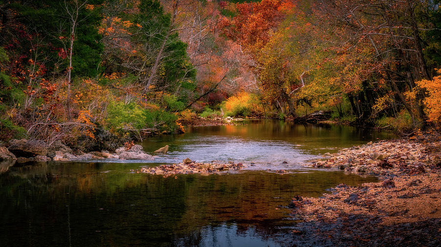 Autumn on Brushy Creek by Allin Sorenson