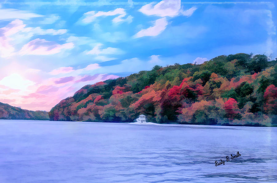 Autumn on Connecticut River by Rusty R Smith