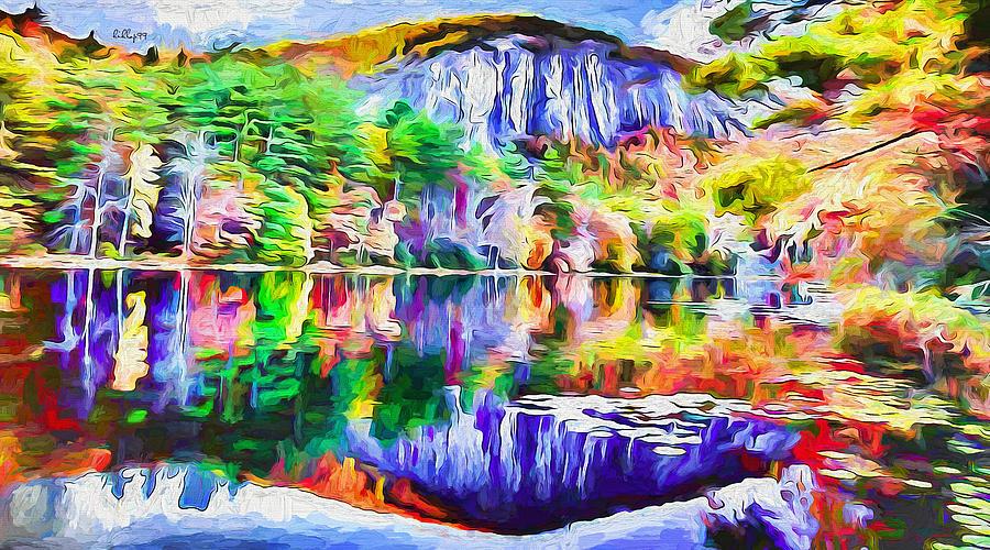 Autumn On Lake 2 Painting