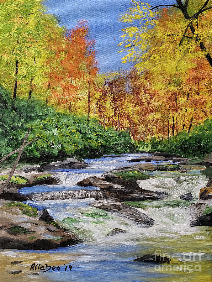 Autumn On The Horsepasture River by Stanton Allaben
