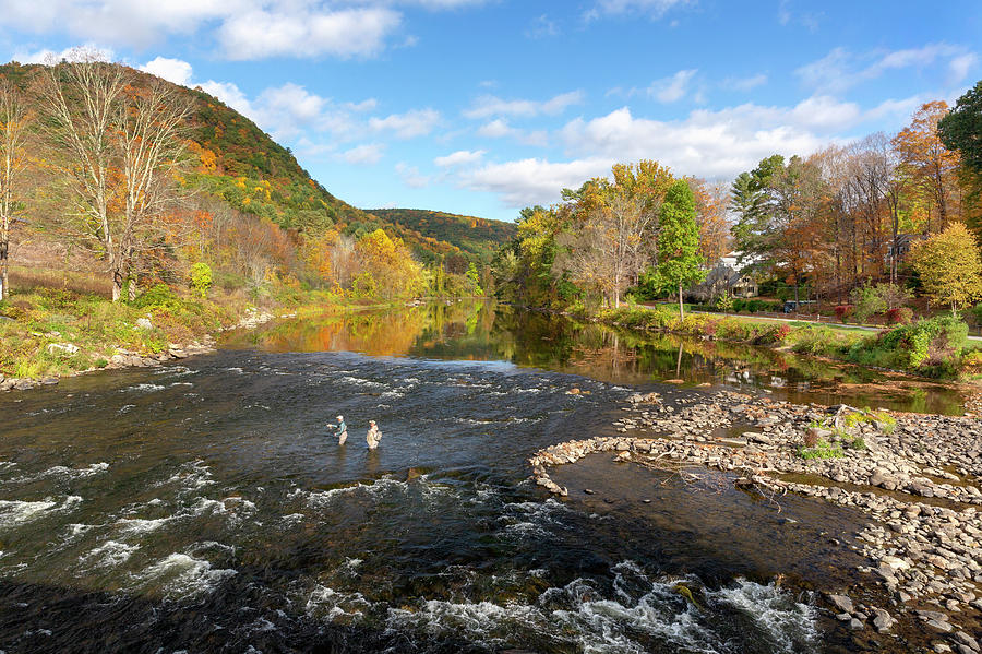 Autumn on the Housatonic River by Bill Wakeley