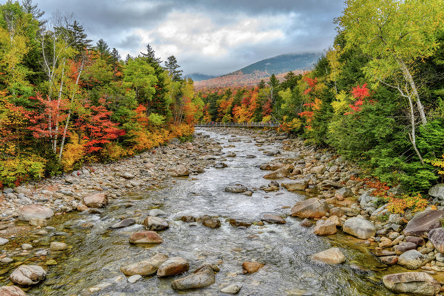 Autumn On The Kanc. NH by Michael Hubley
