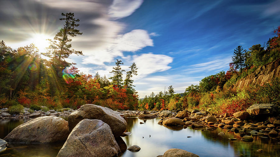 Autumn on The Kancamagus N H by Michael Hubley