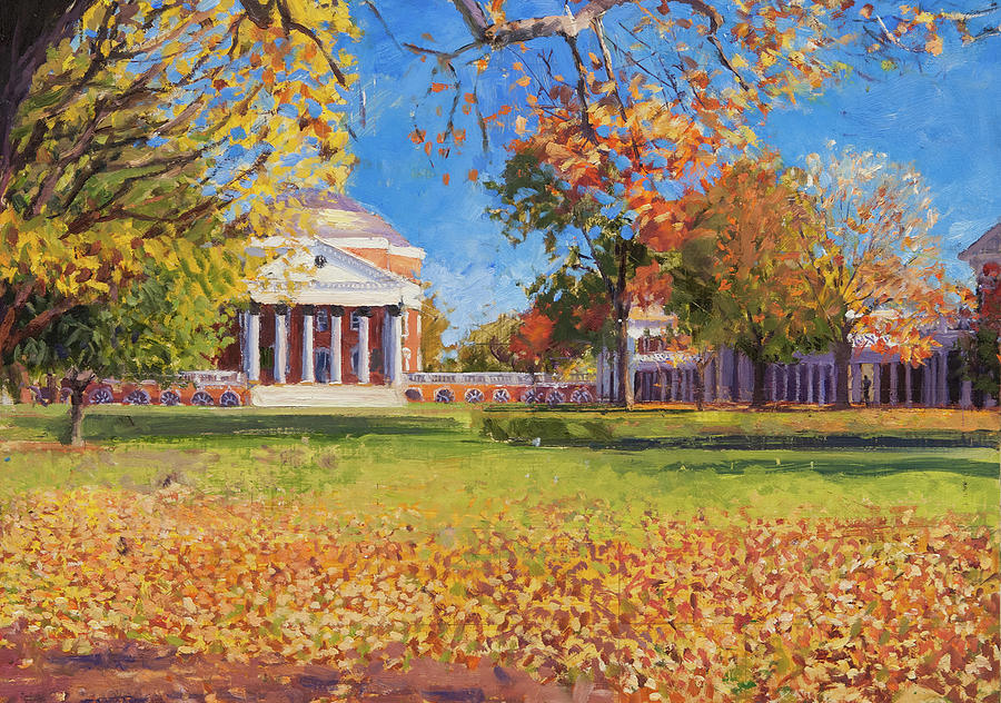 Uva Painting - Autumn on the Lawn by Edward Thomas