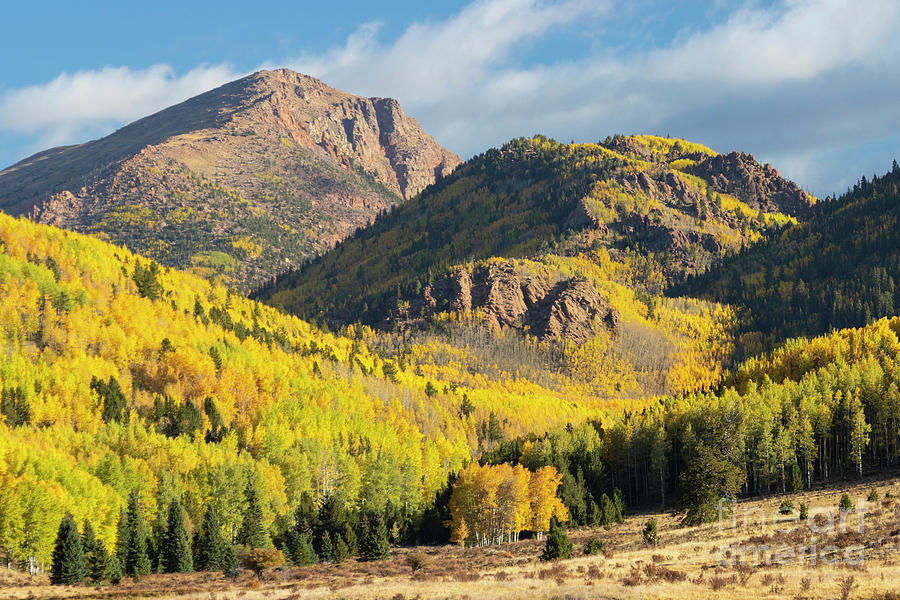 Autumn On The South Face Of Pikes Peak Photograph