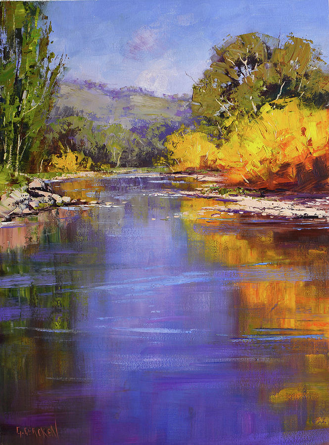 Autumn On The Tumut River Painting