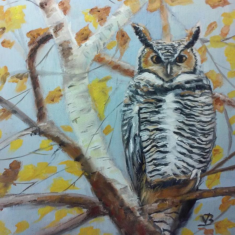 Autumn Owl by Valerie Bassett