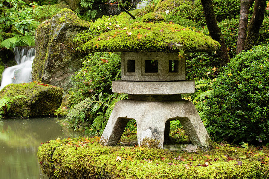Horizontal Photograph - Autumn, Pagoda, Japanese Garden by Panoramic Images
